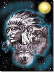 indio e dois cachorros