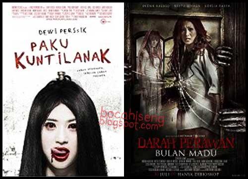 film paku kuntilanak dan film darah perawan bulan madu poster