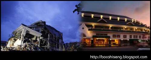 rekaman video cctv hotel ambacang gempa