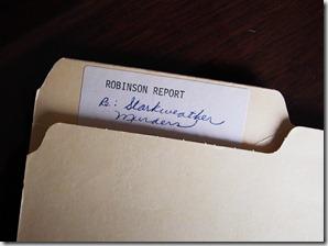 robinson report