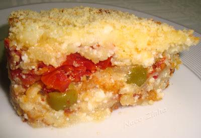 Torta de batata, ricota e tomate seco