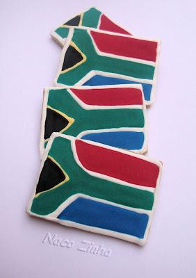 Biscoito bandeira África do Sul