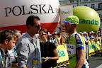 Sylwester Szmyd, z tyłu Maja Włoszczowska, a kim jest gość w koszuli w paski nie mam pomysłu - na plakietce miał VIP, ale nie wiem czy to imię czy nazwisko ;-)