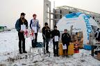 Przełaje w Wilanowie tradycyjnie pod Trzepaczaką. Akurat dotarliśmy na dekorację juniorów młodszych.