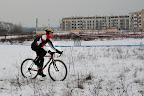 Chyba by mi było szkoda takiego rowerka żeby nim w śniegu po polu jeździć