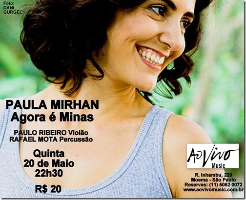 PAULA MIRHAN - Ao Vivo Music - 20-5-2010