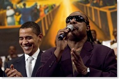 STEVIE WONDER & BARACK OBAMA