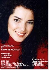 JANE MARA - Papo de Músico (USP FM) - 12-4-2009