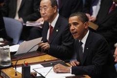 Presidente Obama preside o Conselho de Segurança ao lado do Secretário-Geral Ban Ki-Moon