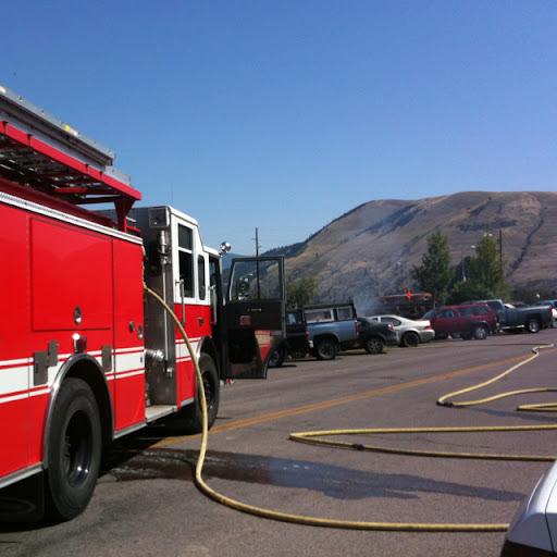 Firetruck in Missoula, Montana
