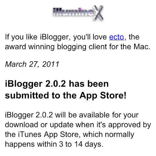 IBlogger 2.0.2 runs on iOS 4.1 and higher, and runs great on the Verizon iPhone.