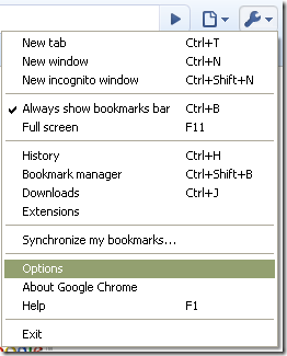 Chrome Options
