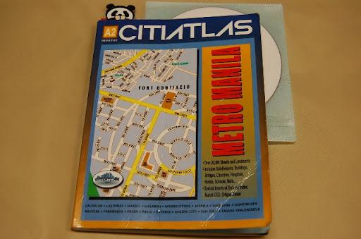 メトロマニラの地図帳 (表紙)CITIATLAS METRO MANILA