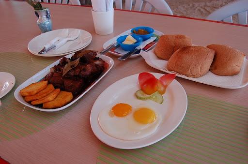 パラダイスアイランドの朝食