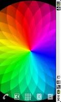 Screenshot of Rainbow Swirl - Live Wallpaper