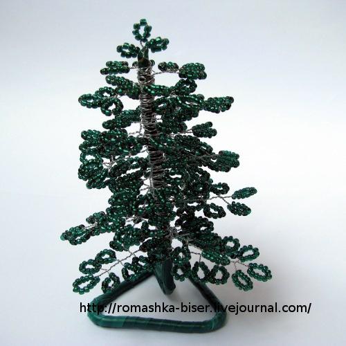 Новогодняя елка из бисера - подарок своими руками) .