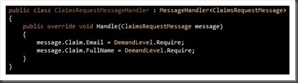 Claims Request Message handler
