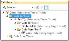 Иерархия вызовов в Visual Studio 2010