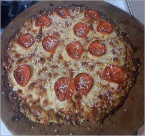 Zucchini Crust Pizza 1