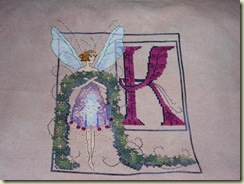 Nora's Letter K Finish 12-20-09