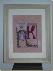 Nora's Letter K Framed 12-26-09