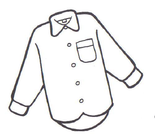 Figura de niño con camisa pantalon para colorea - Imagui