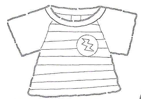 Dibujo de una camisa para colorear - Imagui