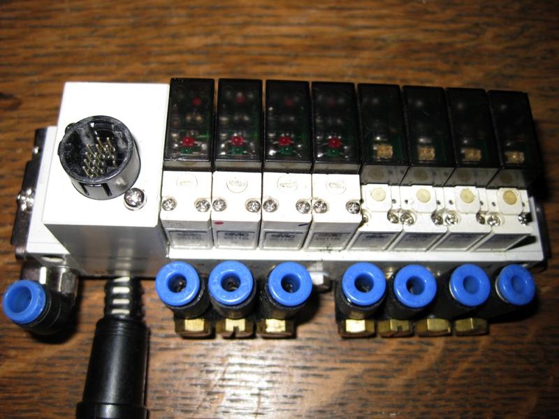 Smc valve solenoid pneumatic air manifold vq l ebay