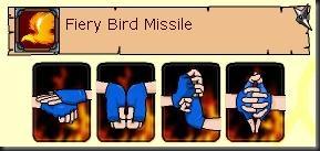 Fiery birdmissile