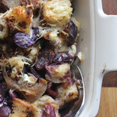 Layered Grapes and Bread with Chèvre and Balsamic