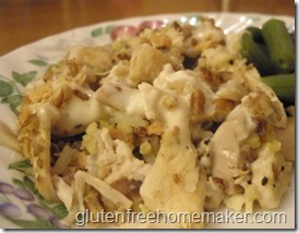 chicken & rice casserole on plate