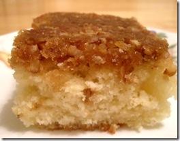pecan praline cake piece