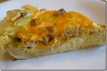 bread crust quiche slice