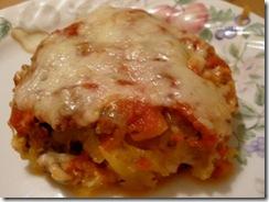 spaghetti squash casserole on plate