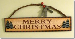 Christmas decorations - wall plaque