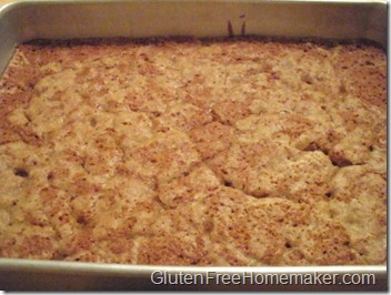 rhubarb coffee cake - baked