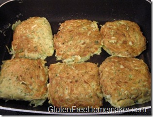 zucchini cakes cooked