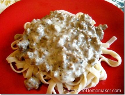 df cream sauce on pasta