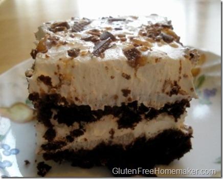 Chocolate cake dessert - cut