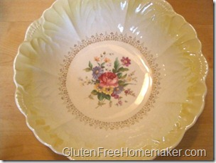 yellow antique dish