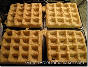 multigrain waffles in iron
