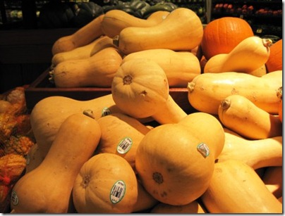 butternut squash at the store