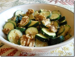 zucchini with walnuts