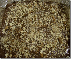 Toffee with Chocolate and Nuts