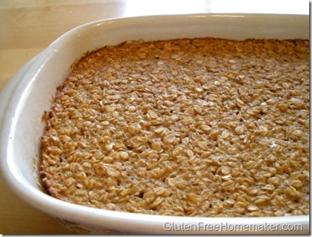 baked oatmeal - in dish