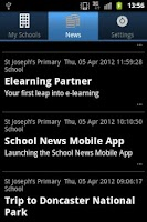 Screenshot of School Updates