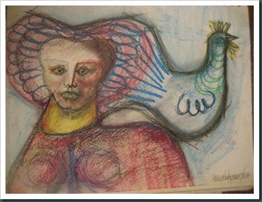Dama y ave