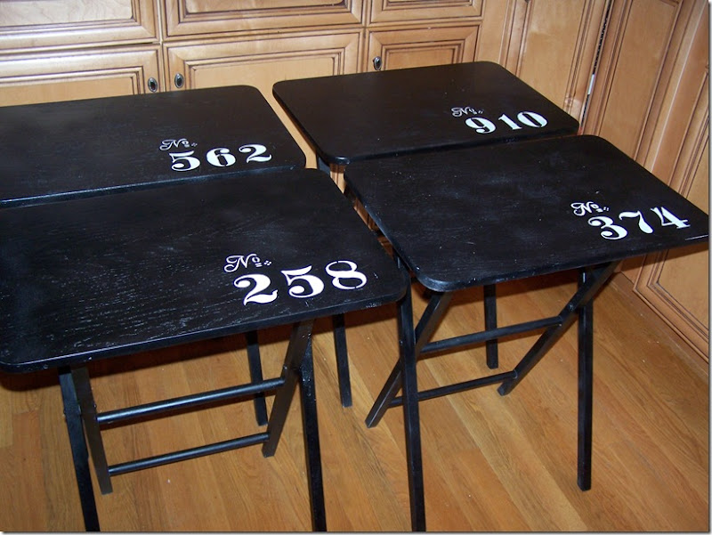 TV Tray Tables with Numbers 006