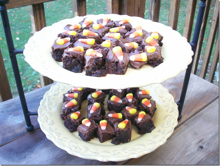 Candy Corn Brownies 005