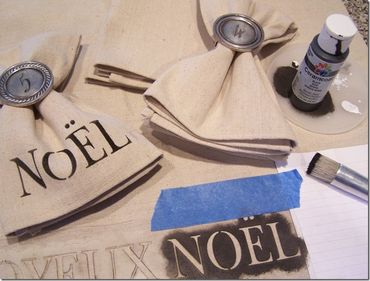 Napkin with Noel 006